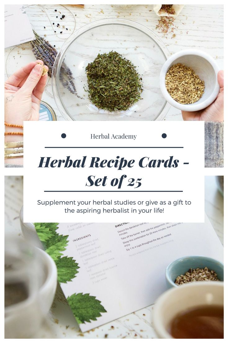 This set includes 25 enticing herbal recipes selected by Herbal Academy educators to give you some valuable experience making herbal preparations. The set covers a variety of herbal recipes including tinctures, salves, bath blends, teas, sprays, a bitters recipe, and tasty items such as herbal chocolate truffles and nourishing herbal broths. Buy some today! #affpin