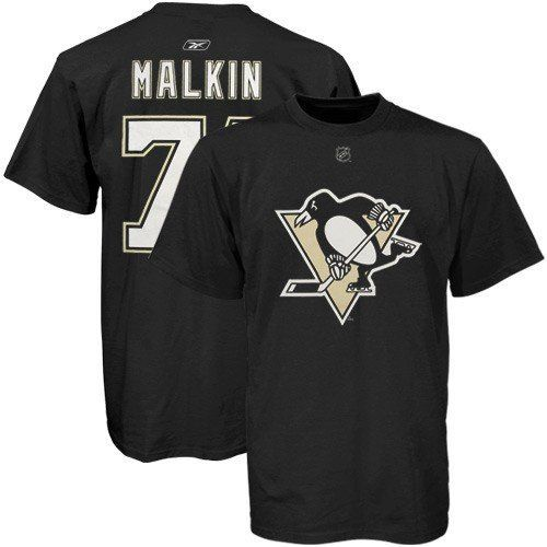 Penguins - Reebok NHL Player T-Shirt - Men's - Malkin, Evgeni ( sz. XXL, Black : Malkin, Evgeni : #71 : Penguins ) by Reebok. Save 24 Off!. $18.99. The Reebok NHL Player Tee is made of 100% cotton and features both a front and a back screenprint. Imported.