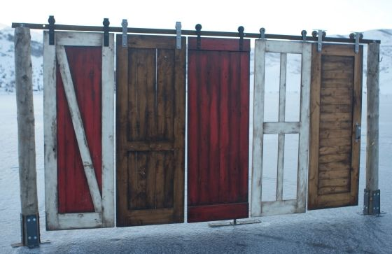 Barn Door Hardware: Closet Doors, Sliding Barns Doors, Doors Kits, Barn Doors, Master Bath, Rustic Hardware, Window And Doors, Door Hardware, Barns Doors Hardware