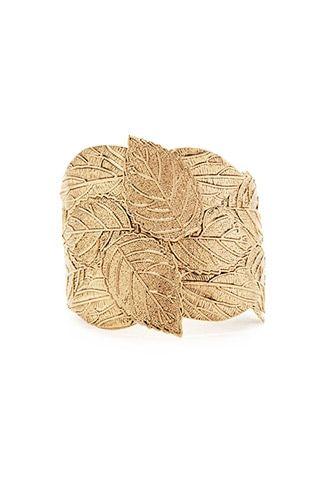 Ornate Leaf Cuff Bracelet