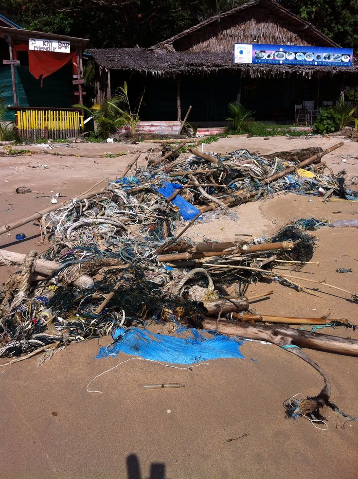 Rubbish 2, Ko Lanta, Thailand. The side of the island that meets the Andaman Sea is overflowing with trash every rainy season.