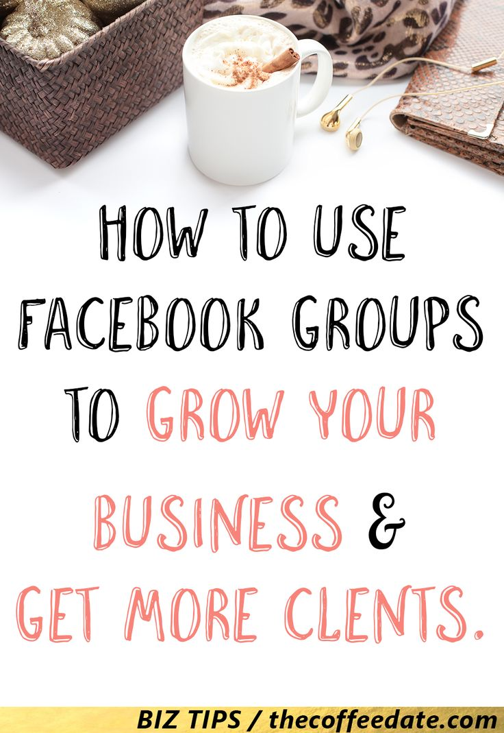 How to use Facebook Groups to grow your business.  Before I launched my business, I hated using Facebook for advertising. In  fact, as a social media marketer, FB wasn't even part of my social media  plan, I focused on Twitter (read about twitter chats here), and Pinterest.  Why? I've heard horror stories about how horrible Facebook's Algorithm was  and how you had to spend money on Ads to get your content seen.     I knew the importance of Facebook groups though, but it never applied to  me…