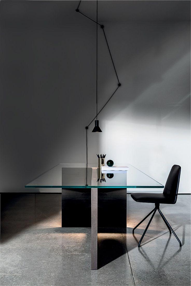 Tavolo rettangolare in legno e vetro REGOLO | Tavolo rettangolare - SOVET ITALIA