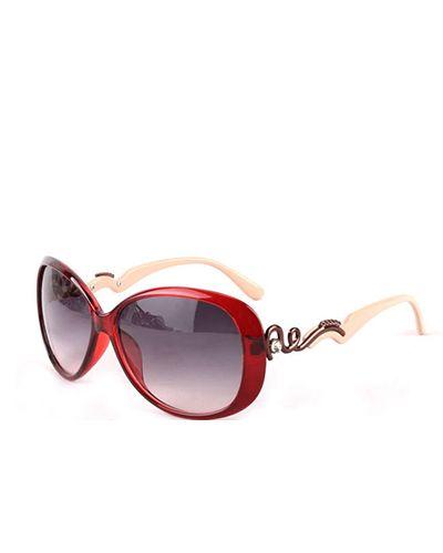 Burgundy Rim Oversized Women Sunglasses @yoyomelodydress