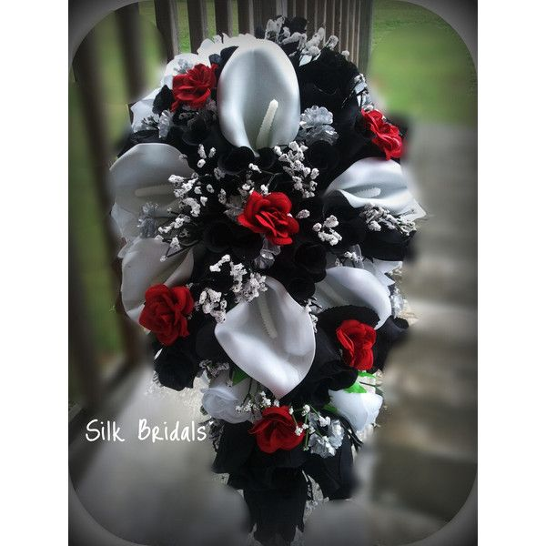 Red white and black wedding flowers gallery flower decoration ideas stunning black and red wedding bouquets photos styles ideas 2018 silk wedding bouquet ideas silk flower mightylinksfo Images