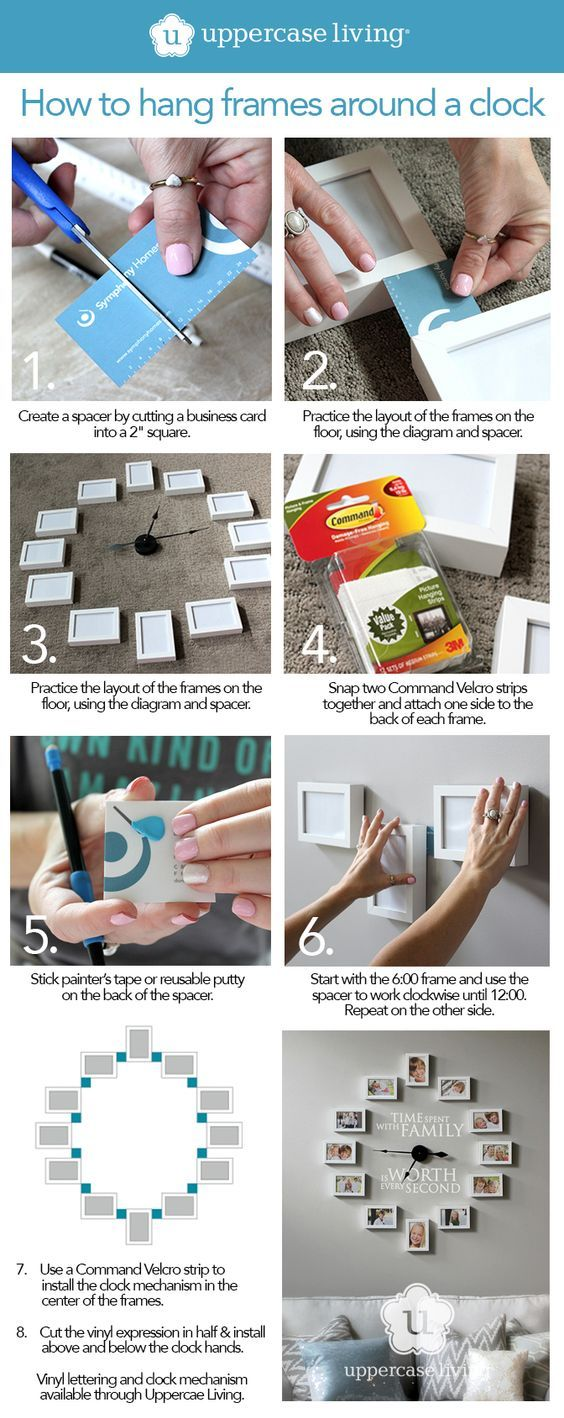 How to Create the Pinterest Picture Frame Clock -  Creating a Pinterest worthy picture frame clock is very simple if you know the secret technique. Follow these simple steps to find out how. #ULClocks: