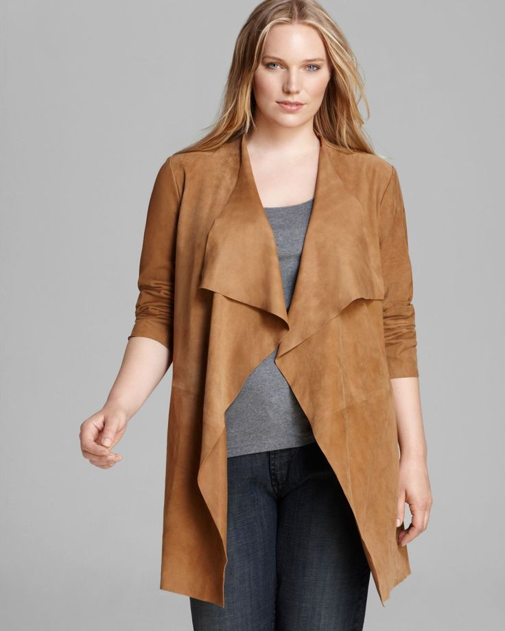 deals draped products front jacket suede at faux drapes justfab terracotta in get great
