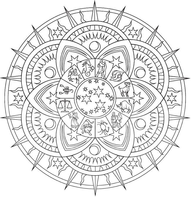 creative haven celestial mandalas coloring page free printable adult coloring