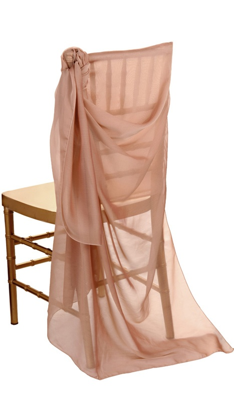 Wedding Party Chair Covers & Decor Blush