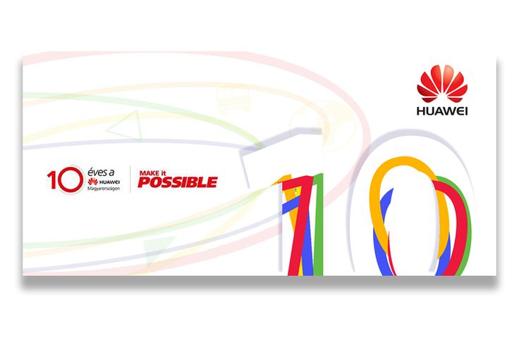 Huawei 10 years anniversary-Hungary, tender project designed by www.radartworks.eu