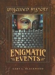 Cover of: Enigmatic events by Gary L. Blackwood