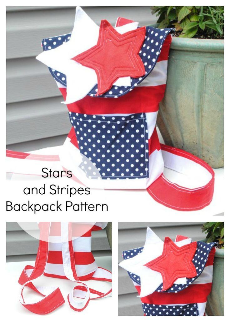 This Stars and Stripes Backpack Pattern is perfect for 4th of July and Memorial Day! Grab the free pattern!