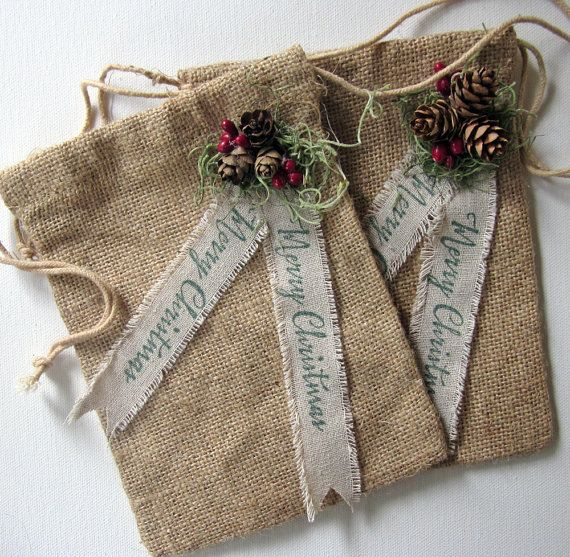 25 best ideas about burlap gift bags on pinterest groom for Burlap bag craft ideas