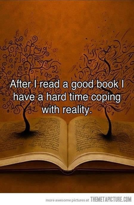 After I turn the last page of book, I am immediately filled with sadness.