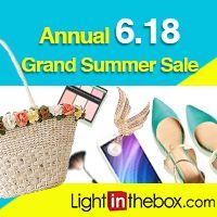 GRANDI occasioni di risparmio per te! Notizia straordinaria: LightInTheBox annuncia un periodo di saldi e prezzi scontati su molti prodotti di moda e Ricompense. Approfittane subito.