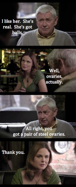 Love it that Ralph Waite double acts as Daddy Gibbs AND Booth's grandpa on Bones