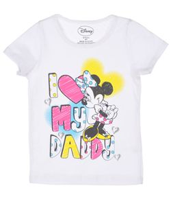 """Minnie Mouse """"I (Heart) My Daddy"""" T-Shirt (Sizes 2T – 4T) $6.99"""