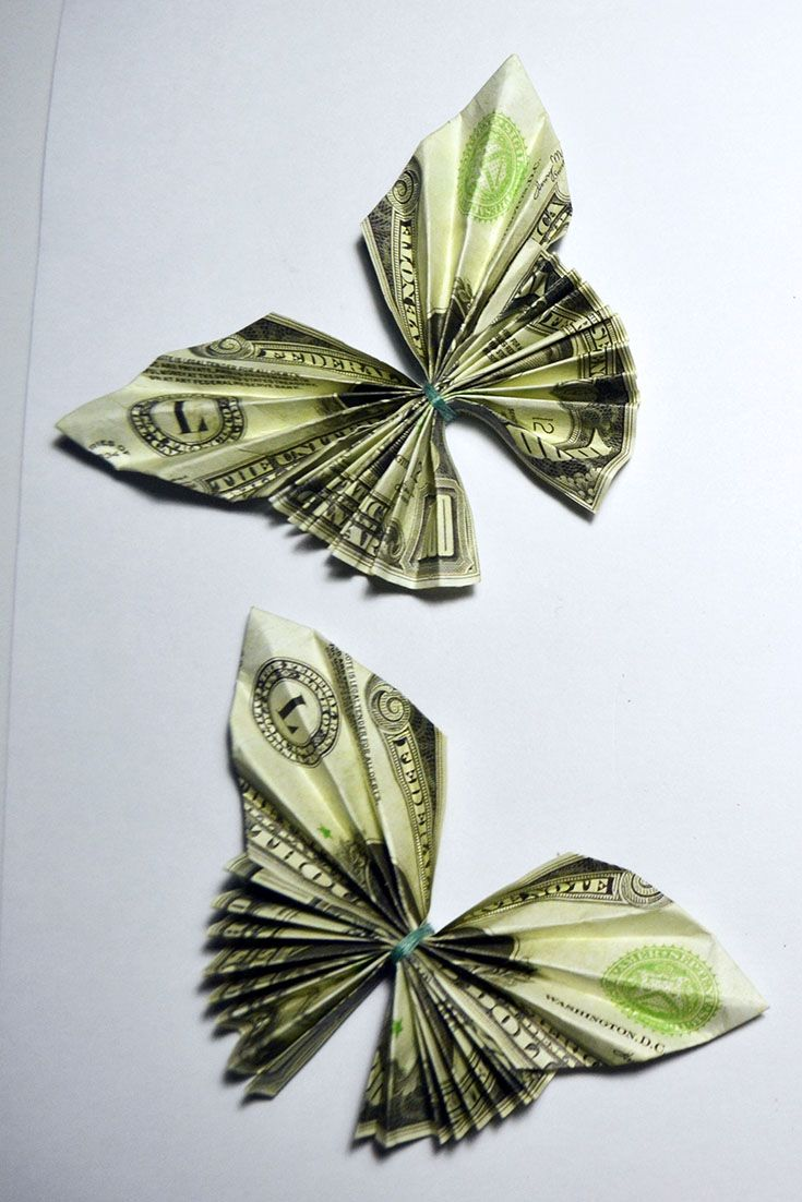 Money Twist Tie Butterfly - Make-Origami.com | 1102x735