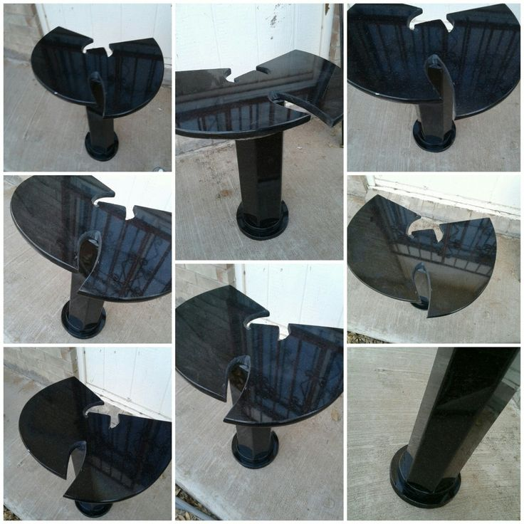 Black Granite WuTang Pedestal (Handcrafted)