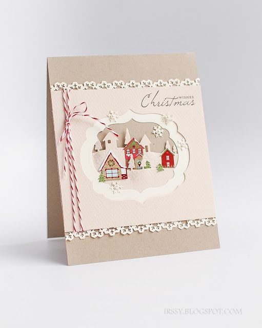 I would have put a splash of red in between the two beige layers... Stampin' with Irina