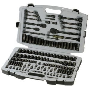 HUSKY - #69027, Black-Chrome (149-Piece) Mechanics Tool Set = $150  @ http://www.homedepot.com/p/Husky-Chrome-Mechanics-Tool-Set-149-Piece-69027/100615096#.UjaKiVrn_RY