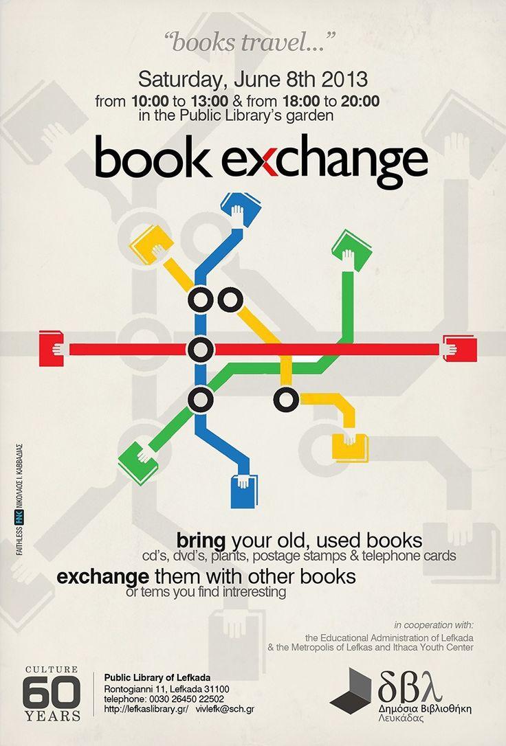 book exchange poster for non-profits fb.com/fnk.creative