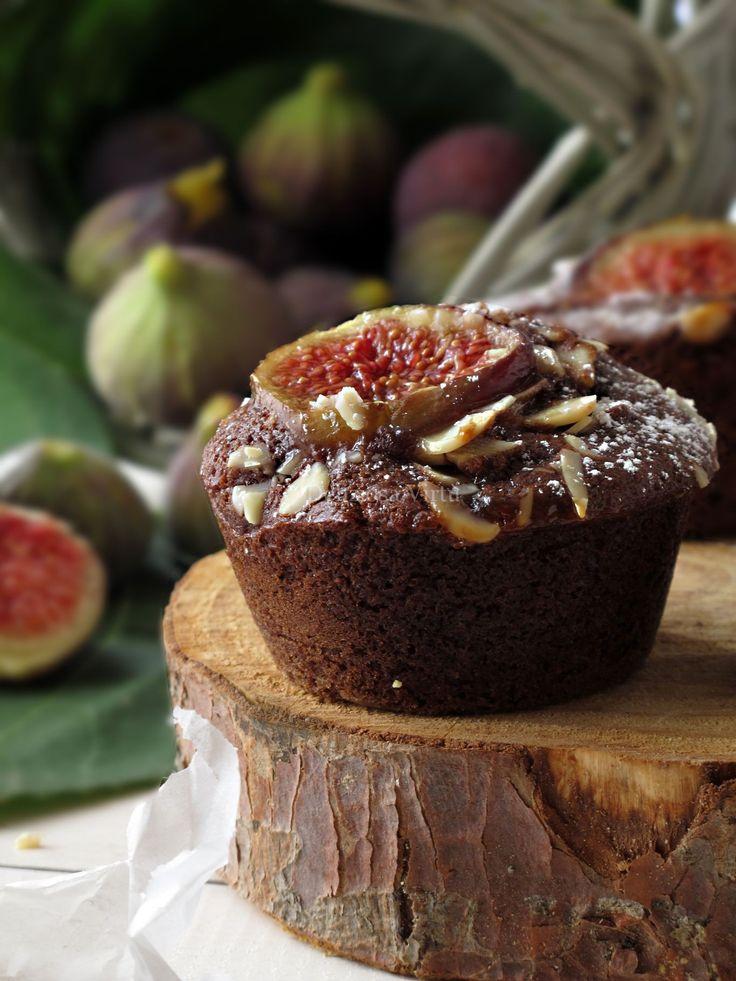 Muffin al cioccolato, rum e fichi 2