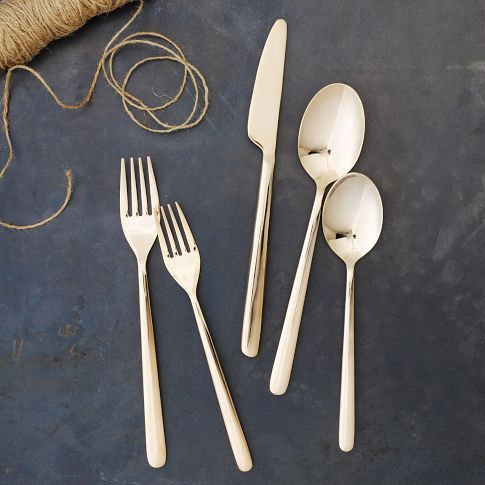 Rose gold flatware on sale at West Elm for $31!