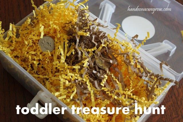 Toddler Sensory Activity: Treasure Box