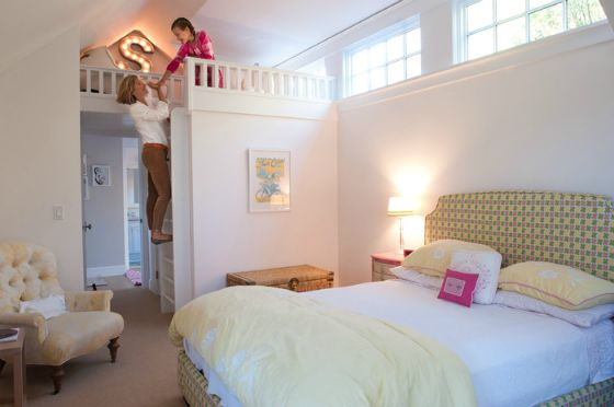 Classic Big Girl Room with Reading Loft - #bigkidroom
