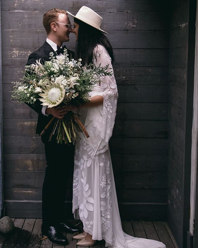 // The amazing bride Ness of @thenesst did ALL the flowers herself