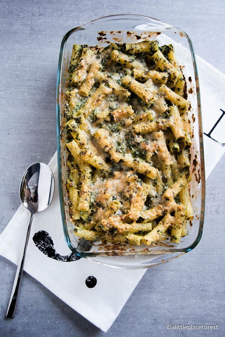 pasta al forno con cavolo nero e stracchino - Baked pasta with kale and soft cheese