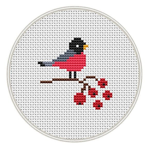 Bird cross stitch pattern, Counted cross stitch pattern, small pattern, Instant Download, cross stitch PDF, cross stitch bird, MCS134