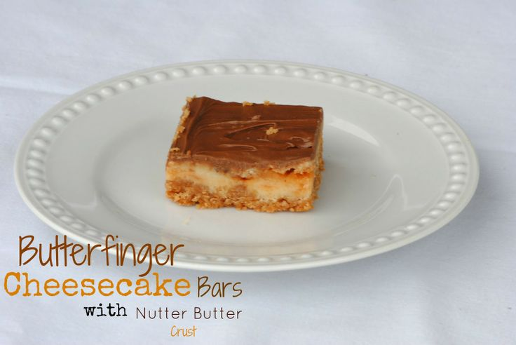 Butterfinger Cheesecake Bars with a Nutter Butter Crust: Farms Girls, Cheesecake Bars, Nutter Butter, Yummy Food, Butterf Cheesecake, The Farms, Butterfinger Cheesecake Bar, Butter Crusts, Girls Recipes