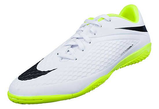 quality design 6108c f6aa4 Nike Hypervenom Phelon IC Indoor Soccer Shoes - White with Volt...Available  at SoccerPro.   Nike Hypervenom Soccer Shoes   Pinterest   Soccer shoes, ...