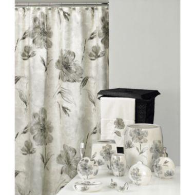 Floral Bath Accessories   Discount Floral Bathroom Accessory Sets   Opaline  Fabric Shower Curtain U0026 Bathroom Accessories By Creative Bath
