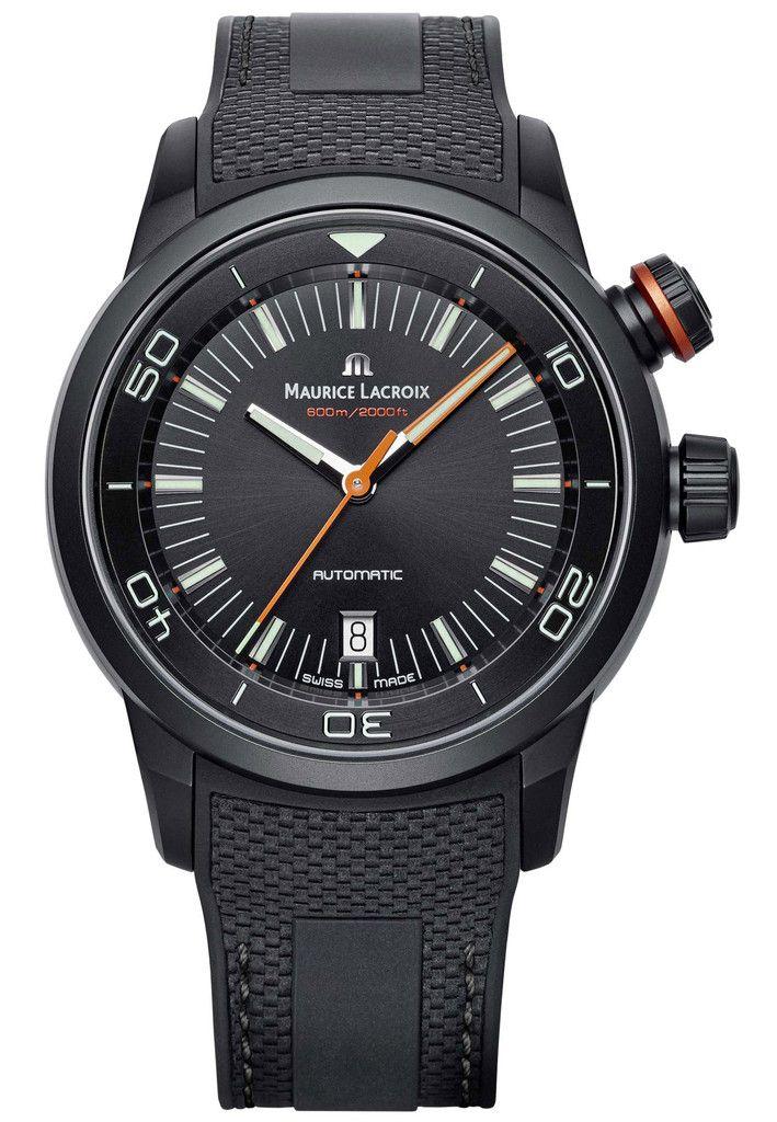 Maurice Lacroix Watch Pontos S Diver #basel-15 #bezel-fixed…
