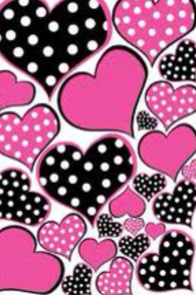 Heart Polka Dot Iphone Wallpaper Wallspapers Pinterest Dots And