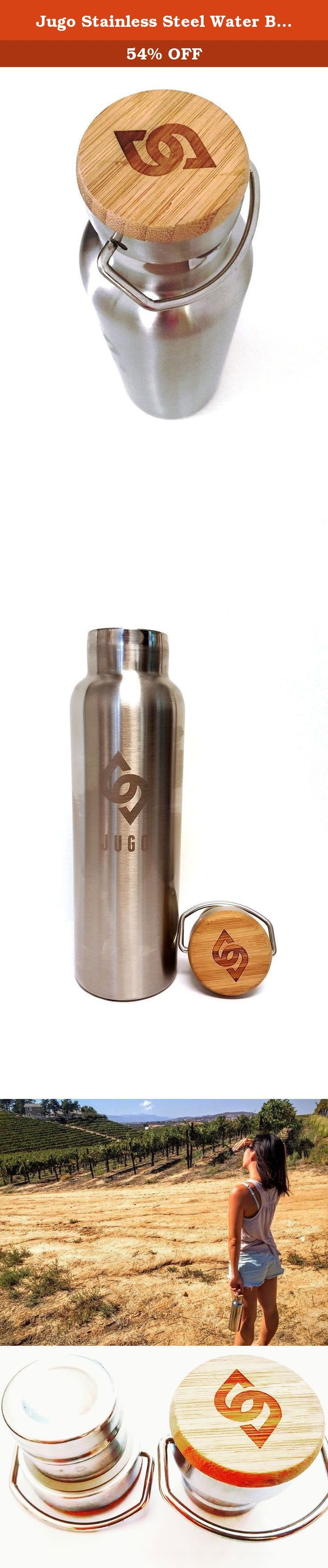 Jugo Stainless Steel Water Bottle - Double Wall Vacuum Insulated - (Mirrored Finish). Jugo's double wall stainless steel water bottles are made of 100% high quality food grade stainless steel. The bottles have no liner (like most aluminum bottles) and are 100% BPA and phthalates free. All Jugo bottles are reusable, sustainable and environmentally friendly. Unlike plastic water bottles or conventional stainless bottles, Jugo's unique vacuum insulated bottle and threaded stainless steel…