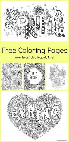 Spring Coloring Pages For Adults And Kids