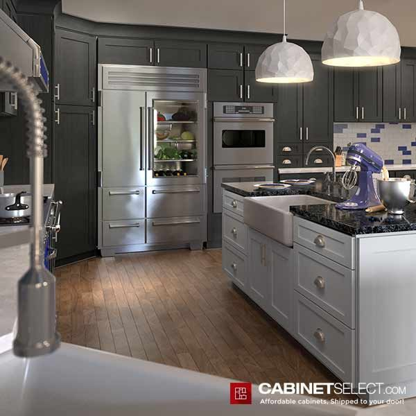 Buy Greystone Shaker Kitchen Cabinets Rta Cabinets By Cabinetselect Kitchen Renovation Cost Kitchen Design Kitchen Remodel