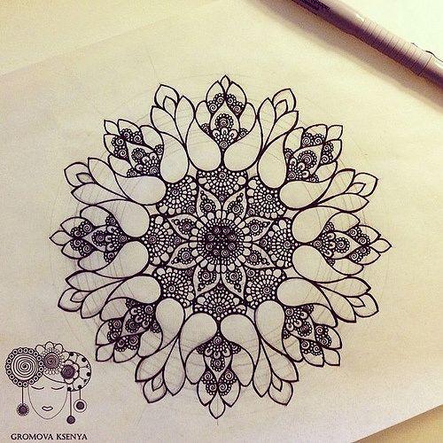 Mandala. Lots of ltl circles.