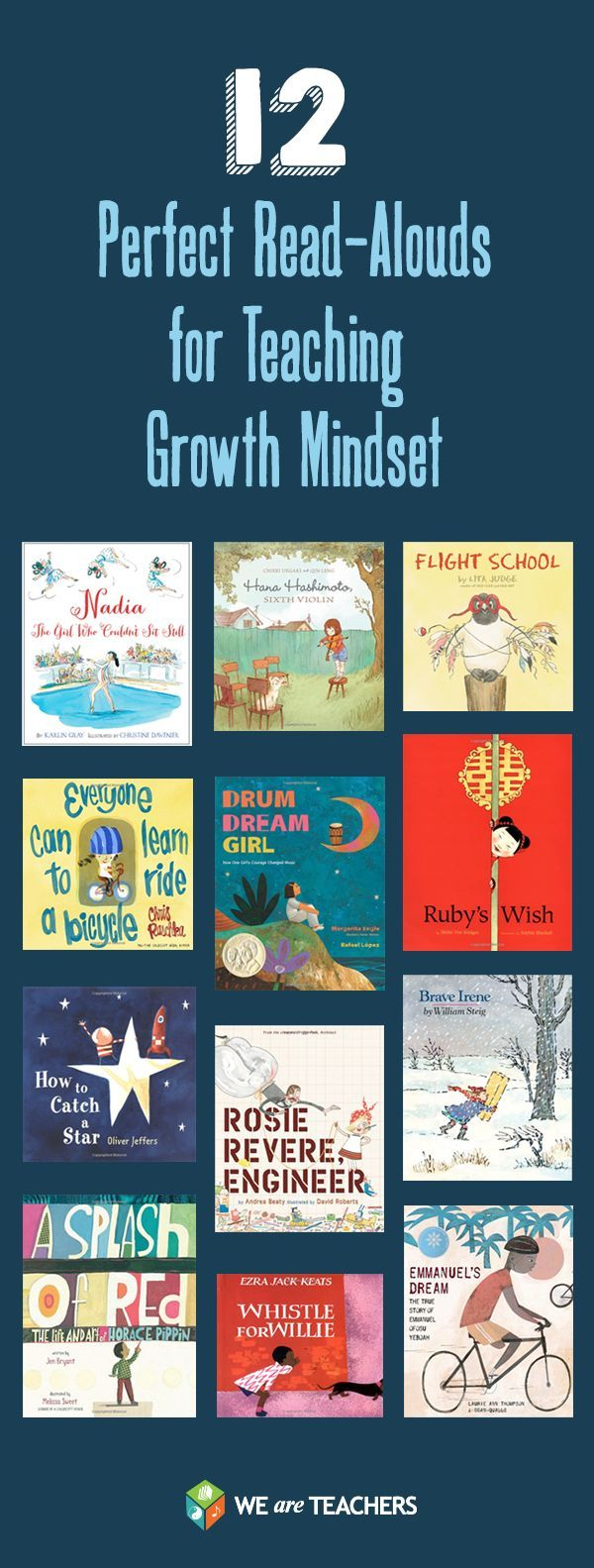 12 Perfect Read-Alouds for Teaching Growth Mindset | Follow @gwylio0148 or visit http://gwyl.io/ for more diy/kids/pets videos