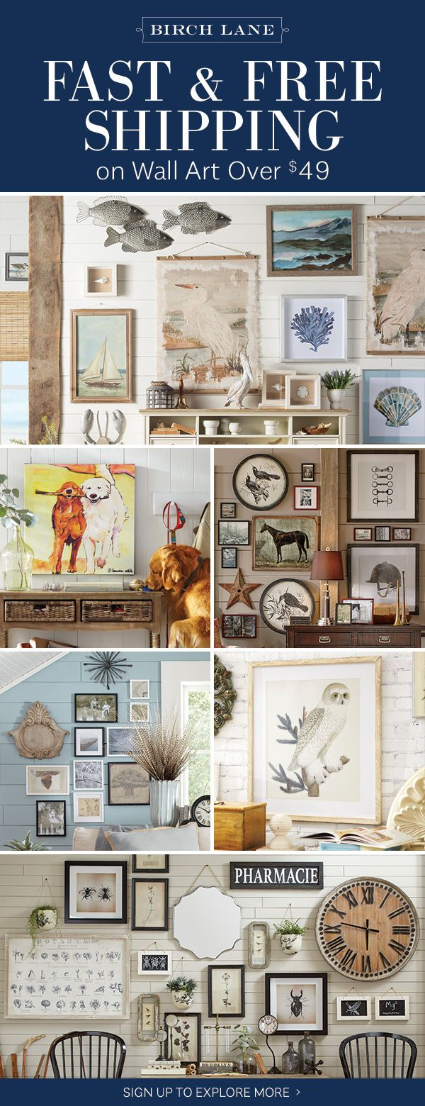 Wall art at birchlane.com! Sign up to find out more about FREE SHIPPING on all orders over $49!