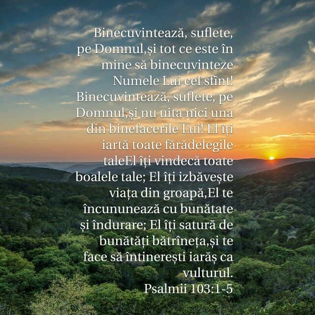 Binecuvinteaza pe Domnul