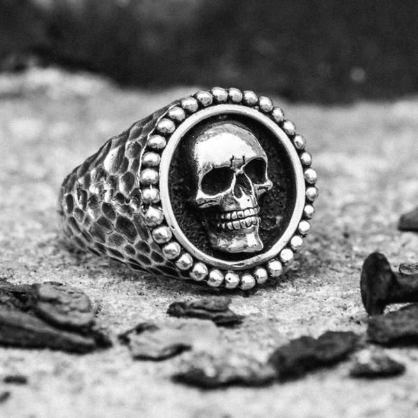 """Our biggest, baddest ring to date may get its name from the Gothic word for """"mortal,"""" but take our word, wearing it will make you feel utterly indestructible..."""