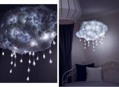 Wolkenlampe, DIY Wolkenlampe, DIY cloud lamp, Lampe selber basteln, Gewitterwolke basteln, Wolke basteln, kreative Lampe, ausgefallene Lampe, Schneeflocken Lampe, Lifestyle Blog, Like A Riot