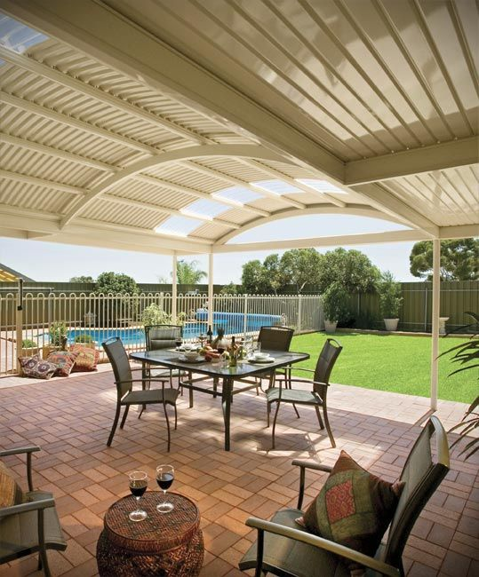 Stratco Outback Curved Roof - Awnings, Carports, Pergolas, Verandahs and Patios