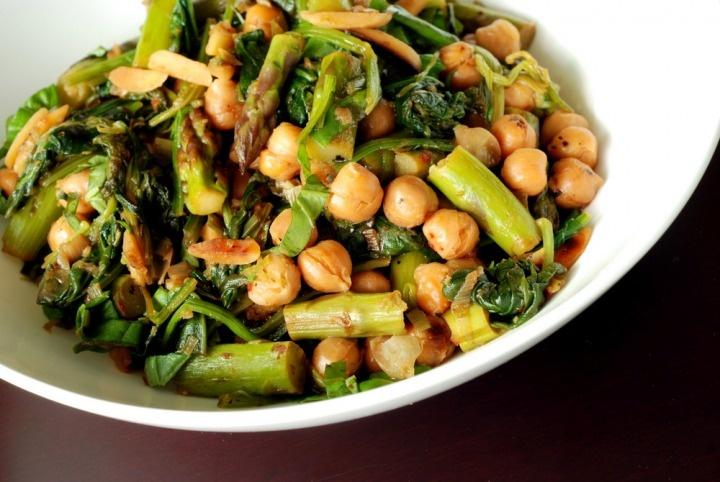 Asparagus and Chick-pea Stir-Fry with Hoisin Sauce - Dinner