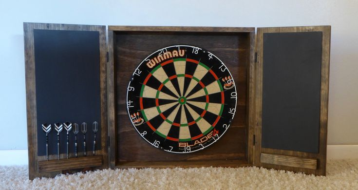 Dartboard Cabinet/ Modern Dartboard Cabinet/ Wall Mounted Cabinet/ Wood Cabinet/ Custom Dart Board Cabinet/ Gift for him